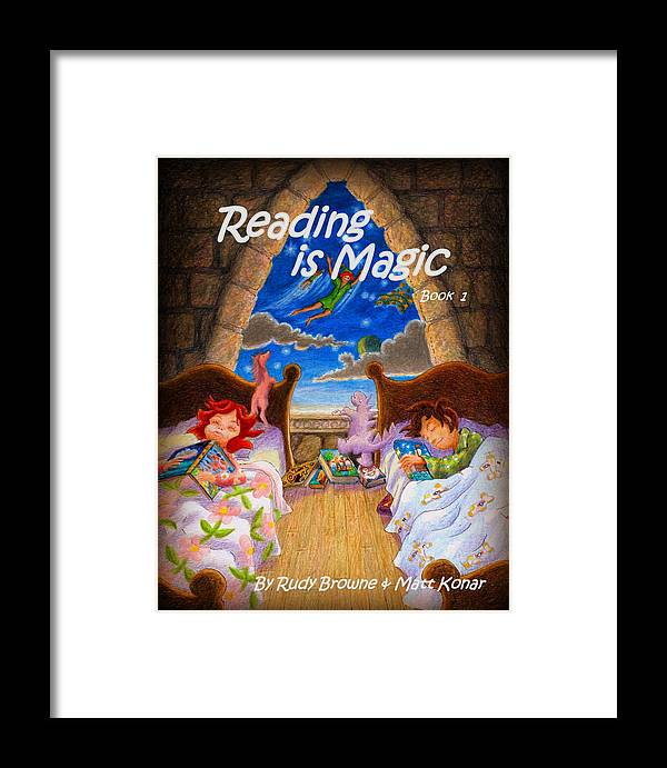 Magic Framed Print featuring the painting Reading Is Magic by Matt Konar