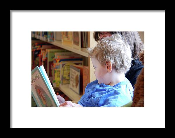 People Framed Print featuring the photograph Reading Nurtures The Gardens Of The Mind by John Schneider