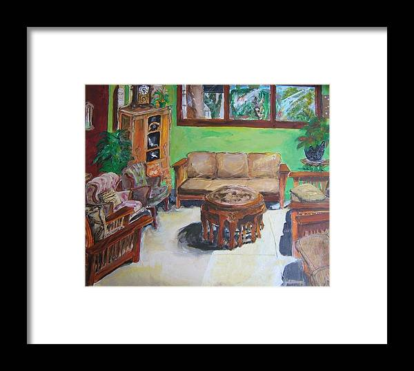 Reading Room Framed Print featuring the painting Reading Room by Todd Artist