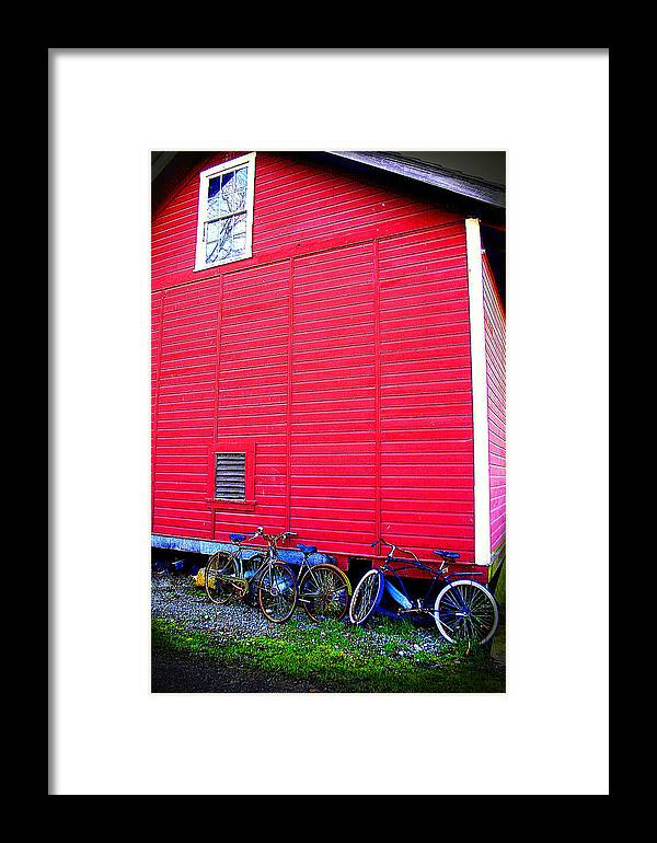 Old Bikes Framed Print featuring the photograph Ready For A Bike Ride by Karla DeCamp