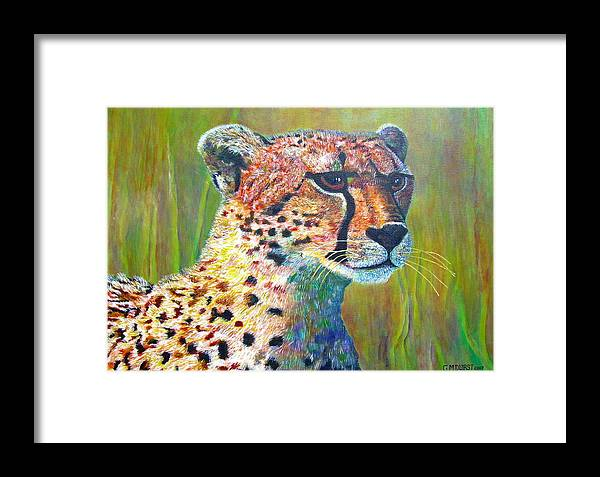 Cheetah Framed Print featuring the painting Ready For The Hunt by Michael Durst
