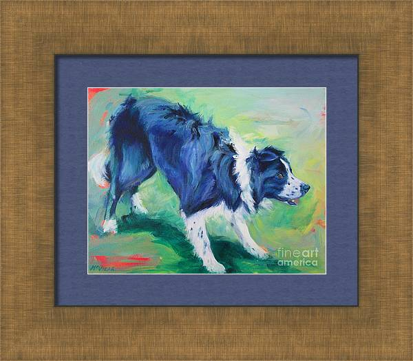 Ready to fly - Border Collie by Lesley McVicar