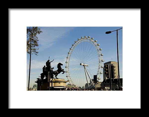 London Eye Framed Print featuring the photograph Ready To Ride by Charles Ridgway