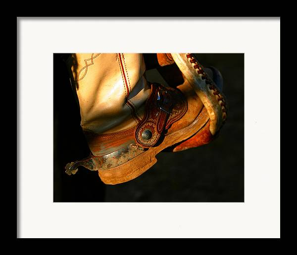 Rodeo Framed Print featuring the photograph Ready To Run.. by Carol Miller
