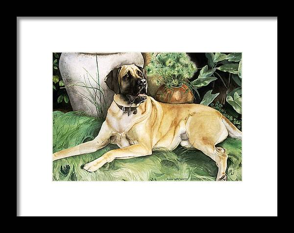 Portrait Framed Print featuring the painting Reagan by Eileen Hale