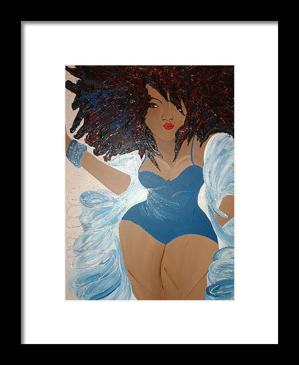 Woman Framed Print featuring the painting Real Woman by Leticia Acevedo