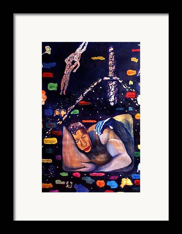 Nudes Framed Print featuring the painting Realities Which Will Be Artifacts by Stephen Mead
