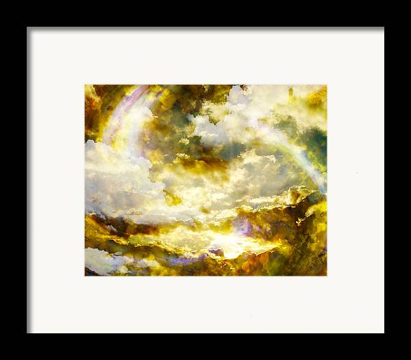 Clouds Framed Print featuring the digital art Realm Of Angels by Gae Helton