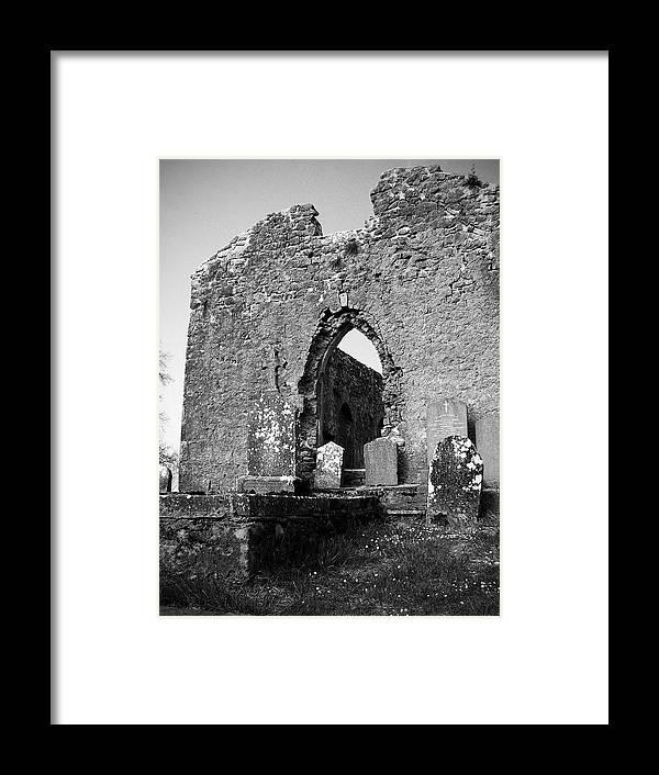 Ireland Framed Print featuring the photograph Rear Entrance Fuerty Church Roscommon Ireland by Teresa Mucha