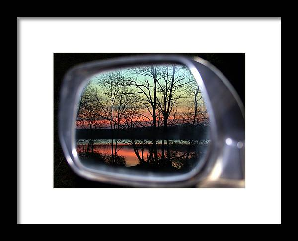 Rearview Mirror Framed Print featuring the photograph Rearview Mirror by Mitch Cat