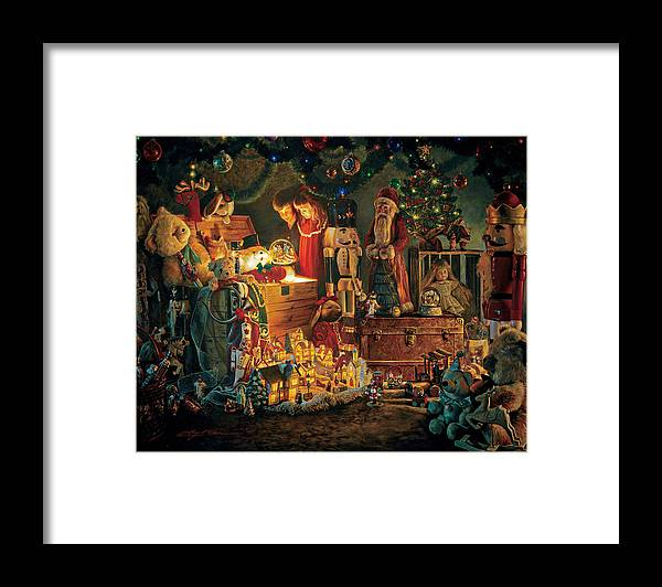 Santa Claus Framed Print featuring the painting Reason for the Season by Greg Olsen