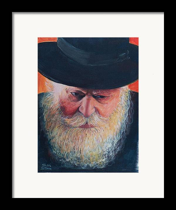 Rebbe Framed Print featuring the painting Rebbe by Sylvia Stone