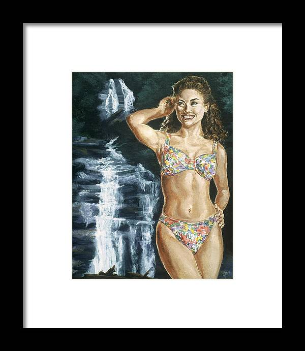 Rebecca Gayheart Framed Print featuring the painting Rebecca Gayheart by Bryan Bustard