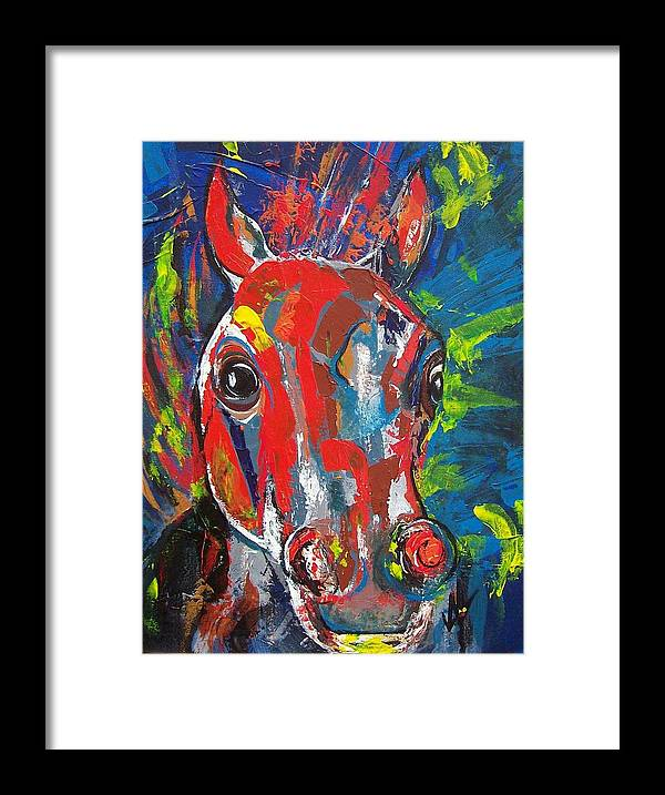 Horse Framed Print featuring the painting Rebel by Valerie Wolf
