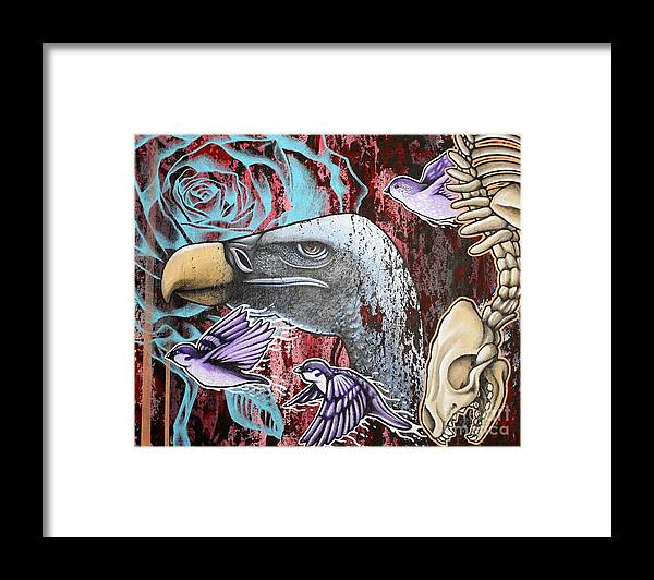 Vulture Framed Print featuring the painting Rebirth by Dan Gee