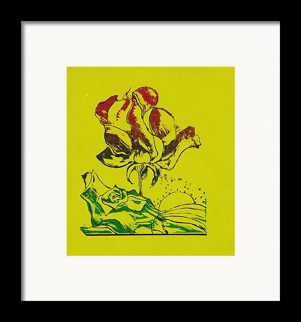 Flower Framed Print featuring the print Rebirth by Kathy Mitchell