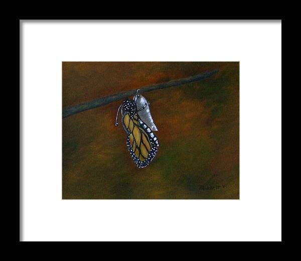 Insects Framed Print featuring the painting Rebirth by Rebecca Fitchett