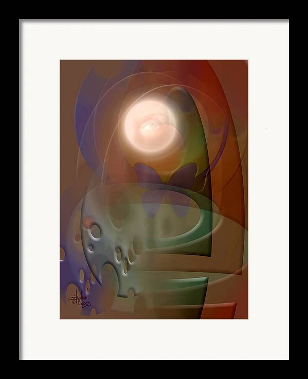 Abstract Framed Print featuring the digital art Rebirth by Stephen Lucas