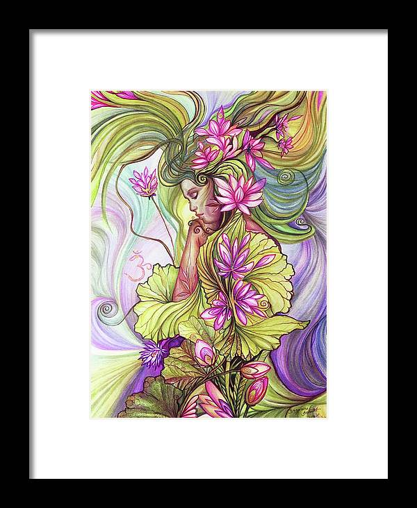 Rebirth with the sacred lotus framed print by bernadett bagyinka rebirth and enlightenment with the sacred lotus flower framed print featuring the digital art rebirth with mightylinksfo