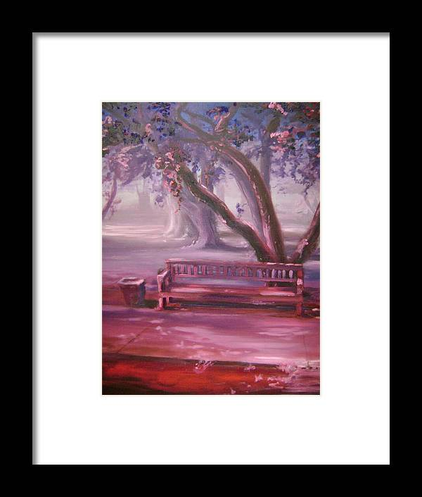Red Framed Print featuring the painting Receding by Lori McCray