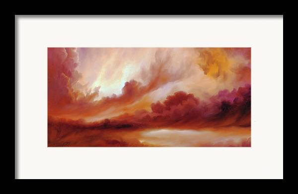 Skyscape Framed Print featuring the painting Receding Storm Sketch IIi by James Christopher Hill