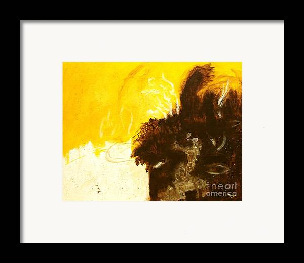 Abstract Framed Print featuring the painting Reckless Abandon by Itaya Lightbourne
