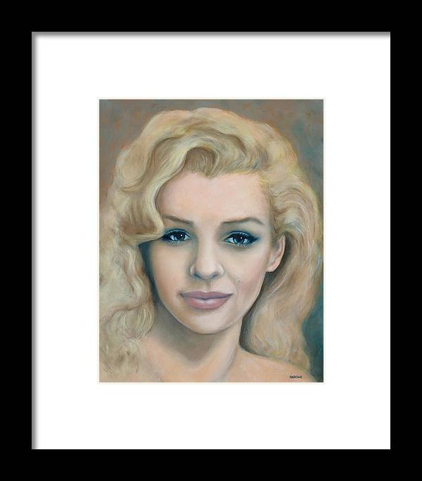 Portrait Framed Print featuring the painting Reclaimed Innocence by Tom Morgan