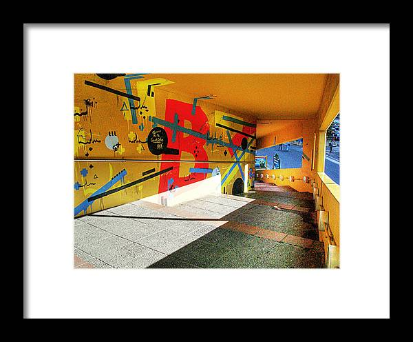 Tunnel Framed Print featuring the photograph Recoleta Tunnel by Francisco Colon