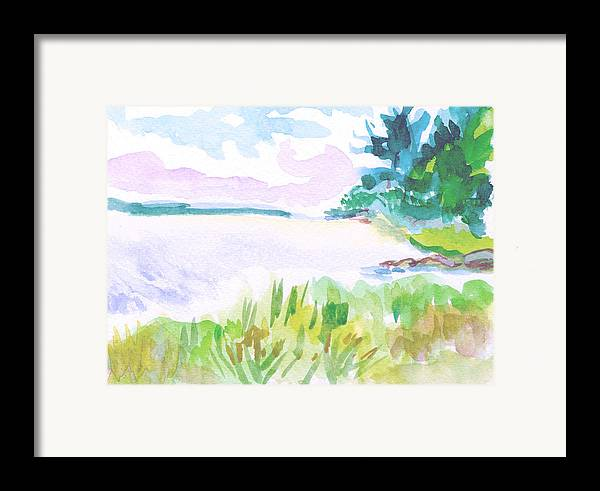 Landscape Framed Print featuring the painting Recompense by Gail Wartell