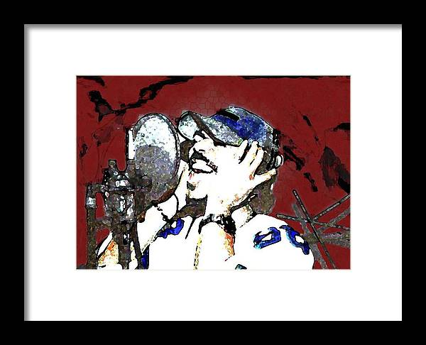 Portrait Framed Print featuring the photograph Recording by LeeAnn Alexander