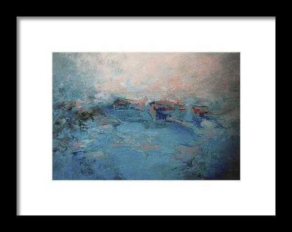 Landscape Framed Print featuring the painting Recuerdo Del Pasado by Guillermo Serrano de Entrambasaguas