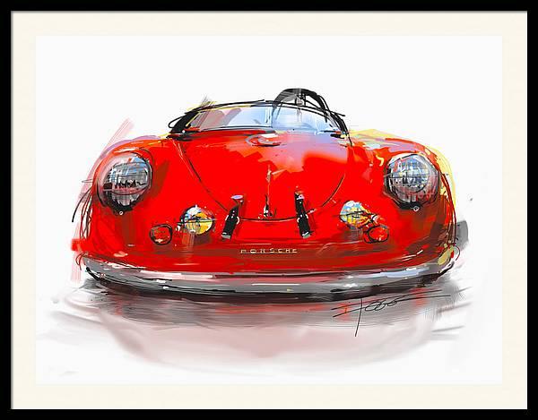 Red 356 Porsche by Peter Fogg