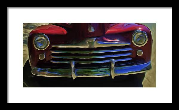 Red Framed Print featuring the photograph Red 47 by Lou Novick