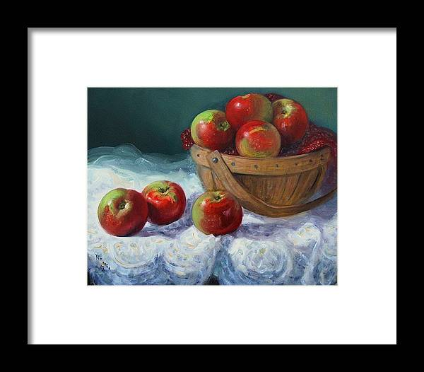 Realism Framed Print featuring the painting Red And Green by Donelli DiMaria