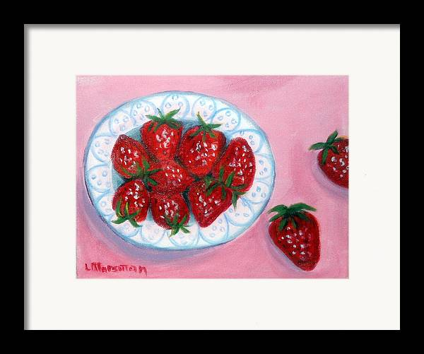 Red Framed Print featuring the painting Red And Juicy by Lia Marsman