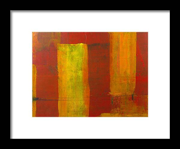 Abstract Framed Print featuring the painting Red And Yellow #1 by Charles Morford