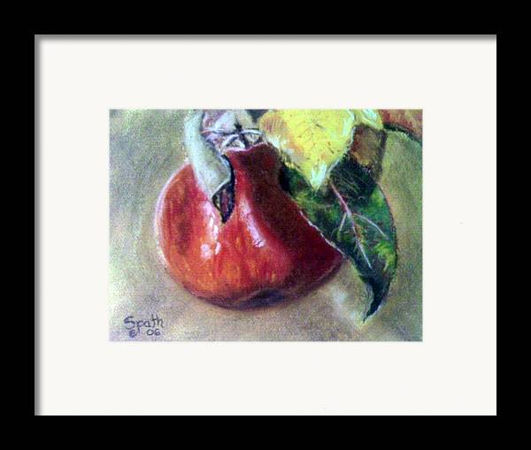 Fruit Framed Print featuring the painting Red Apple by Jack Spath
