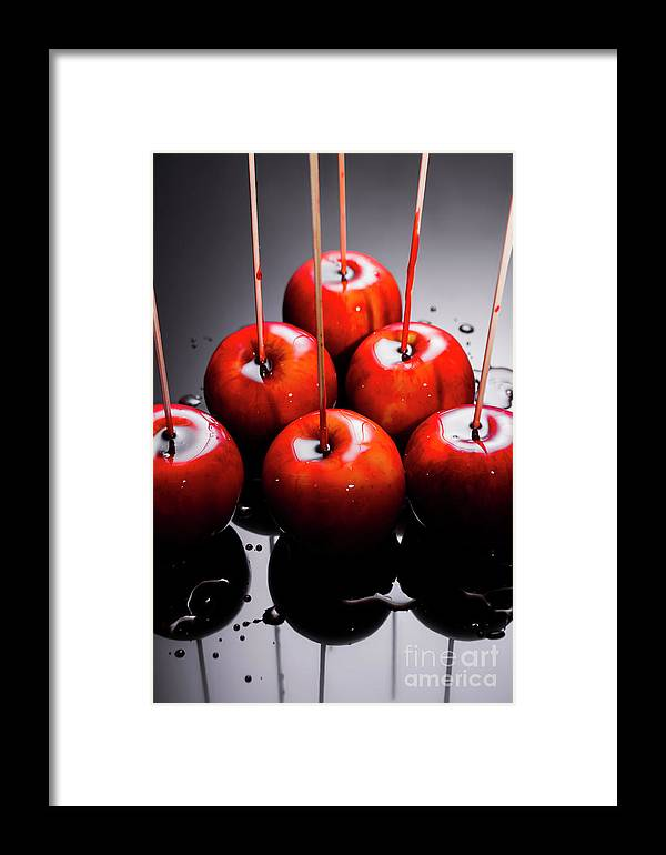 Red Apples With Caramel Framed Print by Jorgo Photography - Wall Art ...