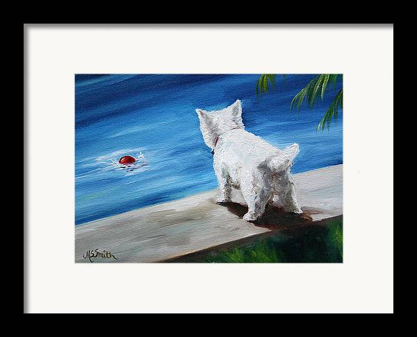 Art Framed Print featuring the painting Red Ball by Mary Sparrow