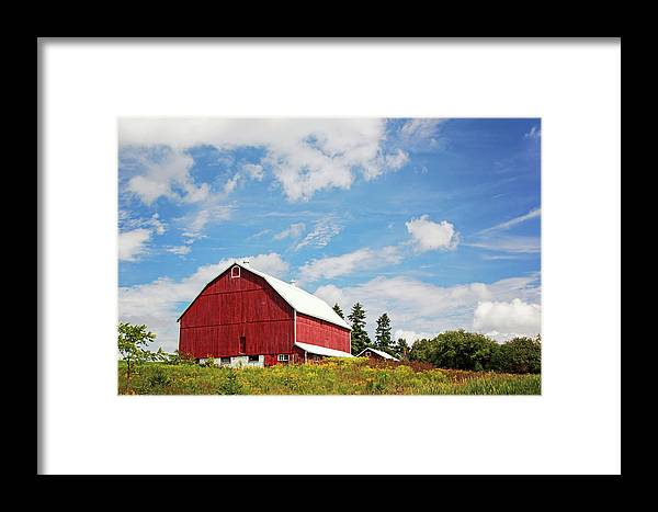 Red Barn Framed Print featuring the photograph Red Barn by Sandra Barbour