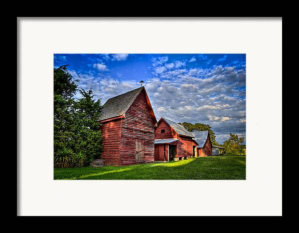 Smithfield Framed Print featuring the photograph Red Blue And Green Barns At Windsor Castle by Williams-Cairns Photography LLC