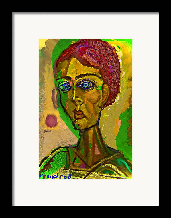 Red Framed Print featuring the painting Red Blue And Green by Noredin Morgan