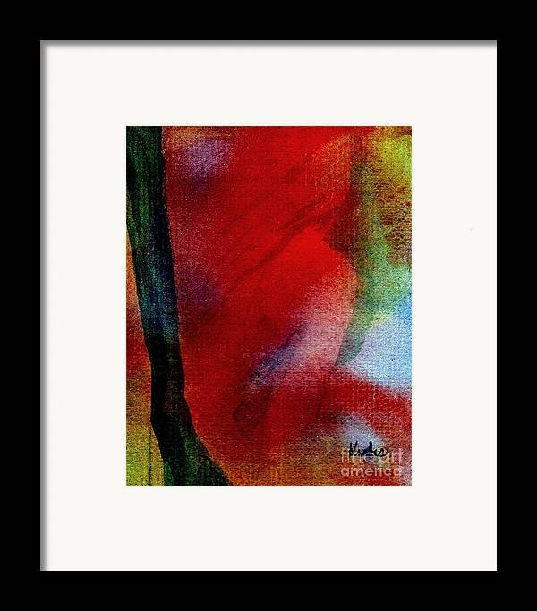 Nude Framed Print featuring the painting Red Boudoir by Susan Kubes