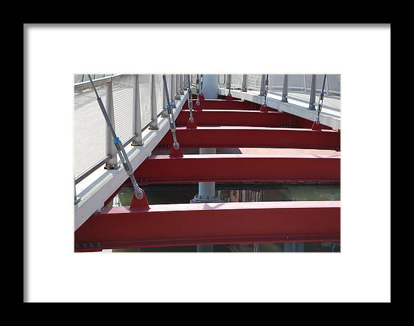Bridge Framed Print featuring the photograph Red Bridge by Jennifer Lauren