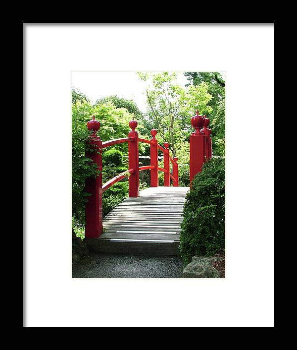 Red Bridge Framed Print featuring the photograph Red Bridge by Martina Fagan