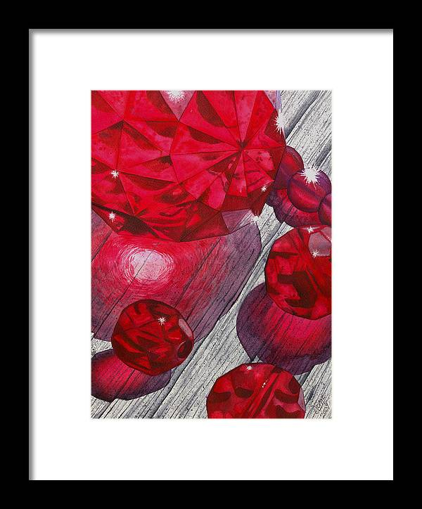 Red Framed Print featuring the painting Red by Catherine G McElroy