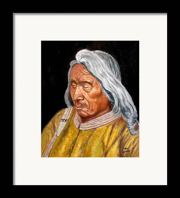 Red Cloud Framed Print featuring the painting Red Cloud by Stan Hamilton