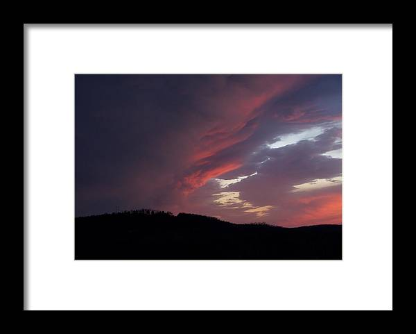 Red Clouds Framed Print featuring the photograph Red Clouds 2 by Toni Berry