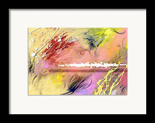 Abstract Framed Print featuring the digital art Red Convertable by Snake Jagger