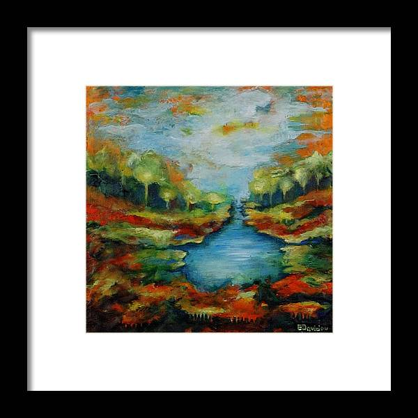 Water Framed Print featuring the painting Red Country No 2. by Evgenia Davidov